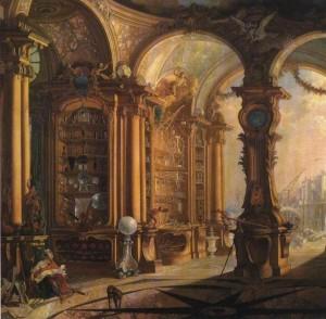 Le cabinet de Physique de Bonnier de La Mosson, par Jacques de Lajoue (1734)