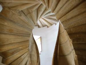 Le double escalier à spirale du Burg à Graz
