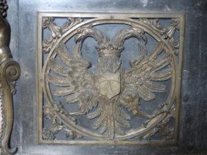 Maître autel de Saint-Antoine-l'Abbaye (Isère), seconde moitié du XVIIe siècle Source : collection iconographique du Musée de Saint-Antoine-l'Abbaye et avec l'autorisation de Mme le Maire de Saint-Antoine-l'abbaye que nous remercions.